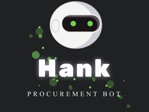 Algorithms supporting procurement – procurement bot Hank has been born!